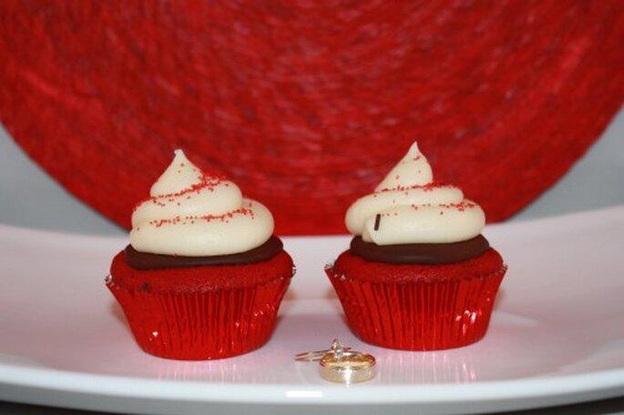 Cupcakes rojos. Foto  Dream-n-Bite