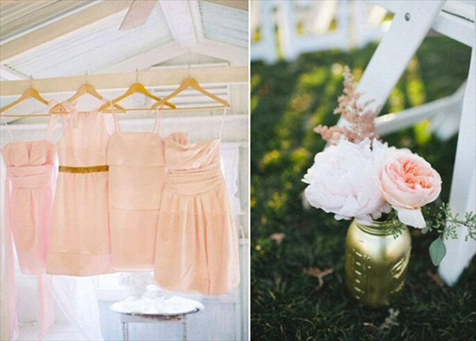 Inspiración en oro para boda. Foto de Flory Photo.
