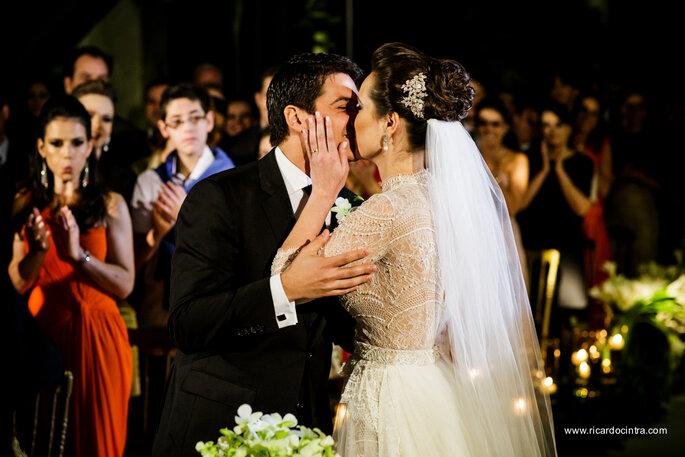 beijos dos noivos
