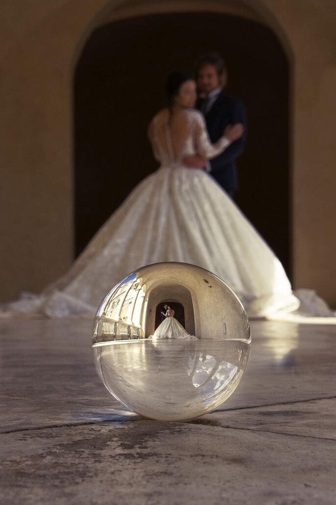 Martina Di Palma eventi green - scatto artistico di coppia di sposi