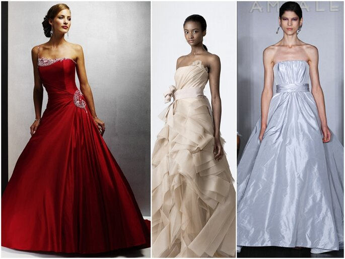 Left to right: Maggie Sottero, Vera Wang, Amsale