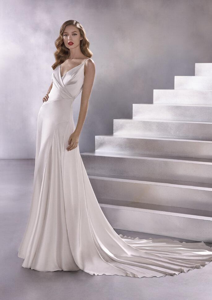 vestido de noiva corte évasé ou linha A