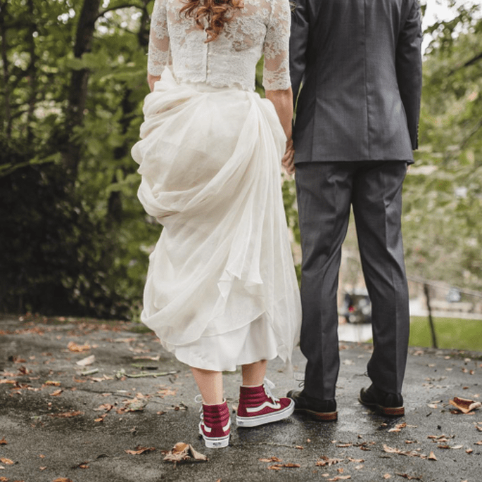 Sneaker für die Braut Vans
