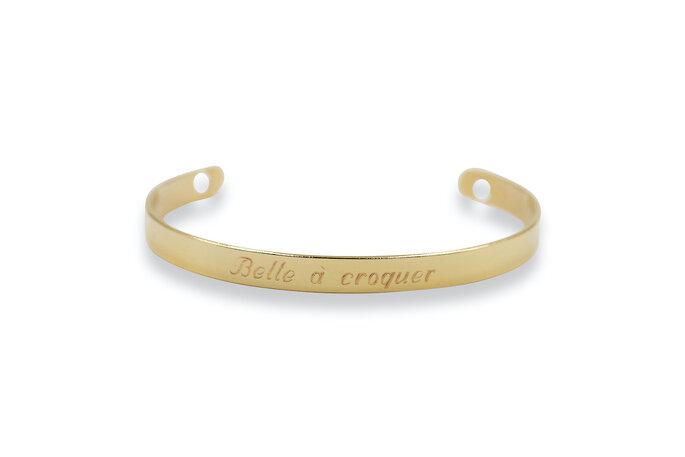 Bracelet fantaisie pour femmes à faire graver - choix du message possible