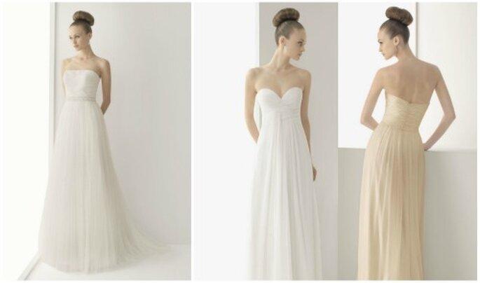 Vestidos de novia de líneas sencillas. Colección Soft de Rosa Clará