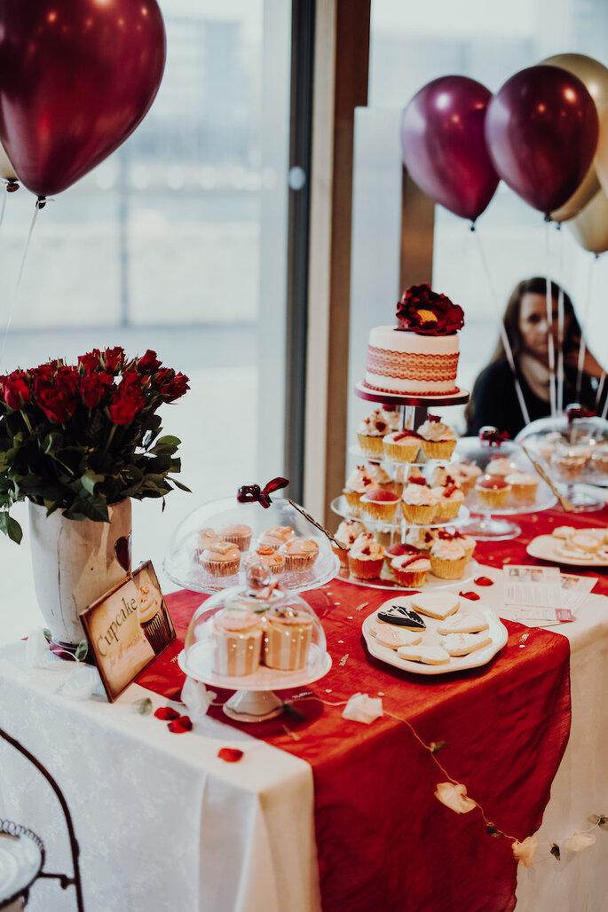 Der Sweettable bei der Hochzeitsmesse Bridal Teatime.