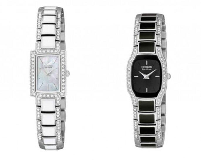 Joyas, los accesorios que te harán brillar en una boda. Foto. Relojes Citizen,Cristal Joyas.