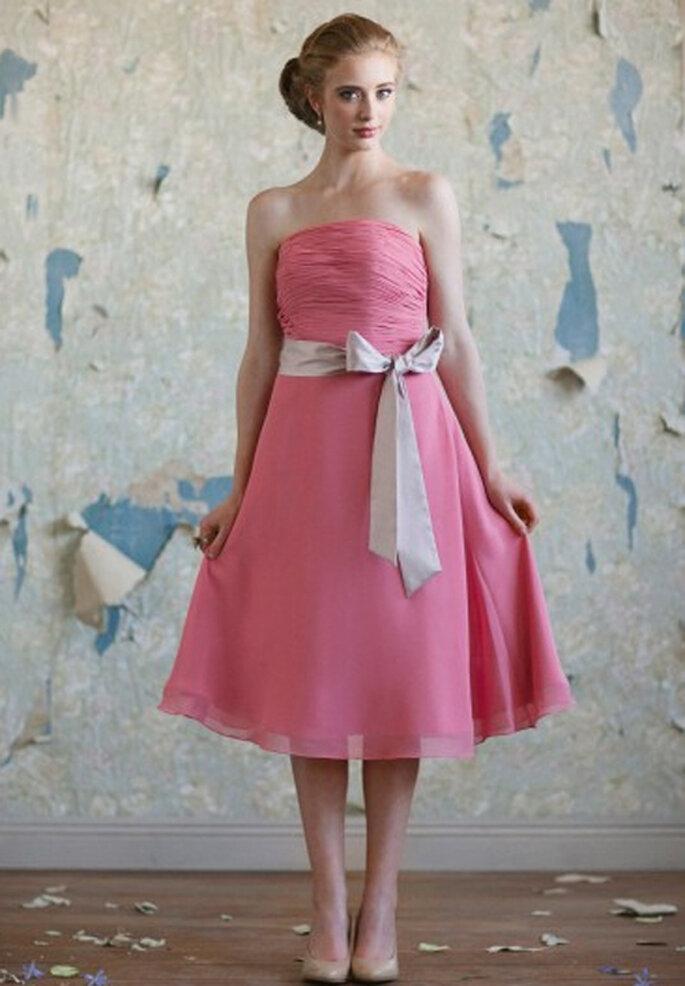 Vestido vintage en color rosa para damas de honor - Foto: Ruche