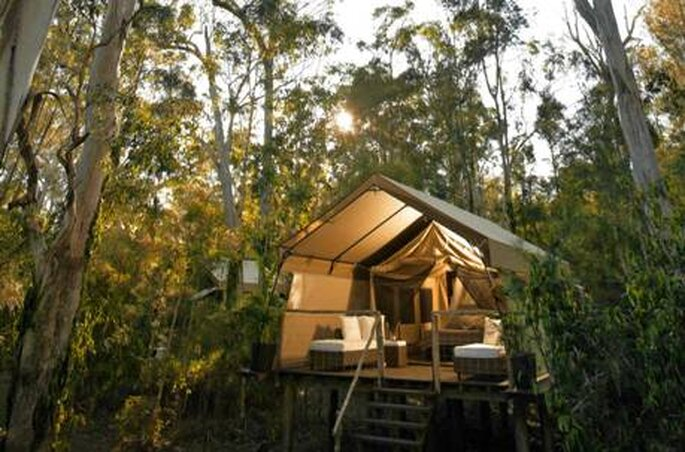 Un camping glam pour un voyage de noces original