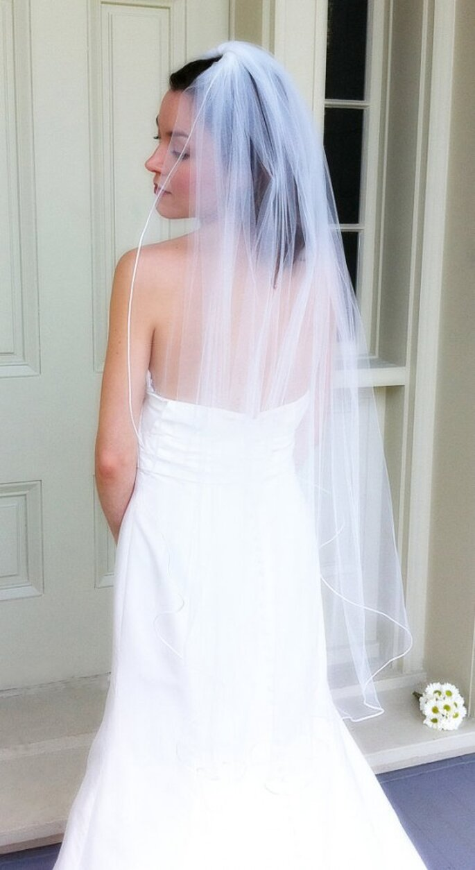 Velo de novia tipo Vals - Foto VioletBells Etsy