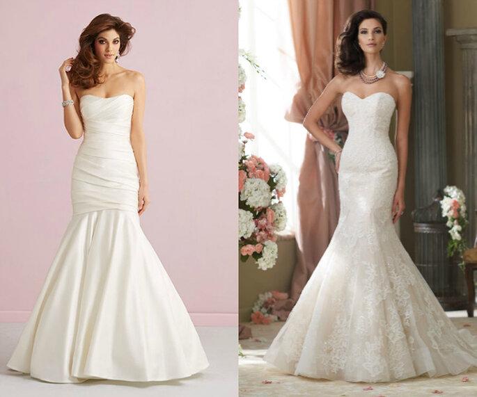 Vestidos de novia corte sirena - Fotos de Allure Bridals y David Tutera