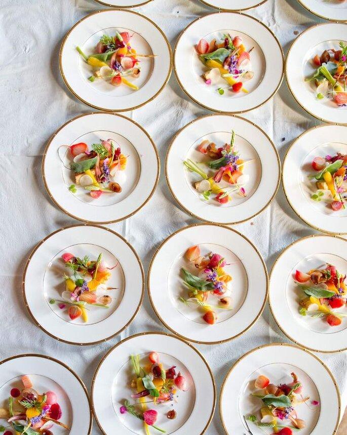 Assiettes gourmandes préparées par ORIGIN Traiteur