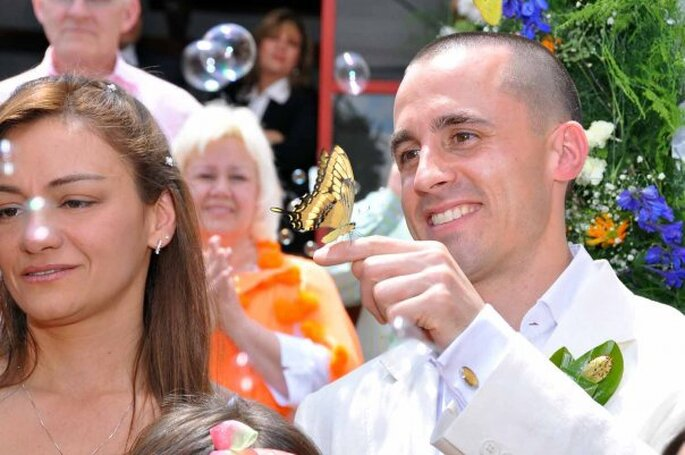 Las burbujas y las mariposas están entre los favoritos de las bodas delmundo entero. Foto: Mariposas son Colombia