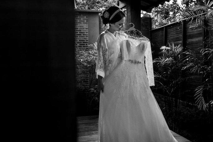 Noiva com seu vestido