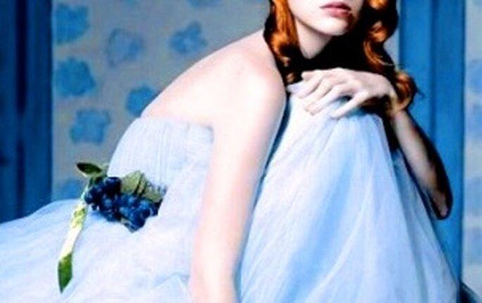 Colección de vestidos de novia azules 2009