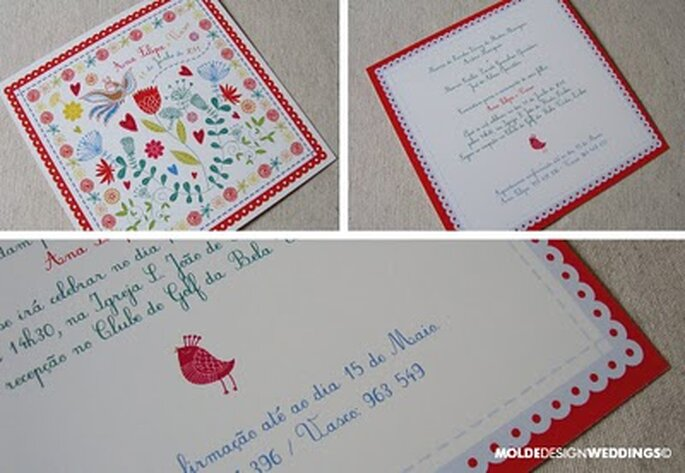 Convite de casamento Lenço dos Namorados