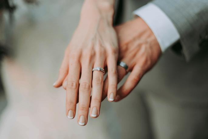 Argollas de matrimonio recién casados