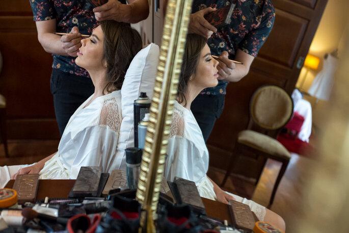 cabelo e maquiagem de noiva