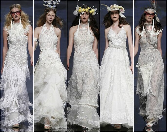 Vestidos de novia de ganchillo de YolanCris, colección 2012