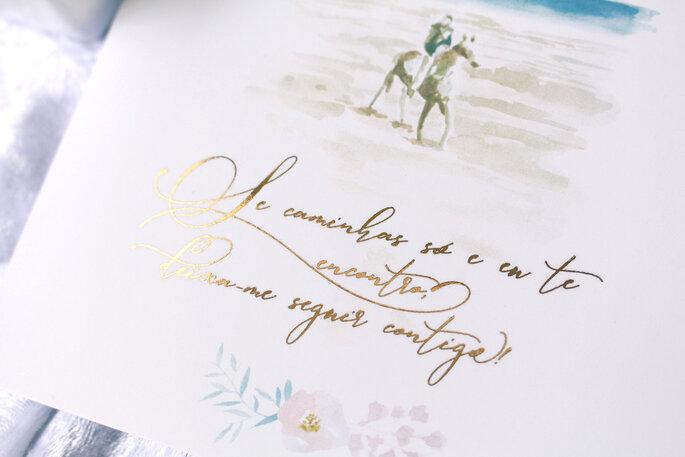 Elegante und edle Hochzeitspapeterie mit Kalligrafie