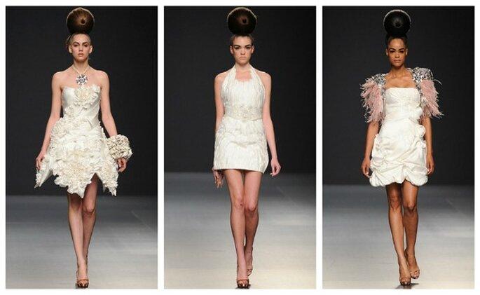 Vestidos de novia cortos. Fotos: Jorge Terra 2012
