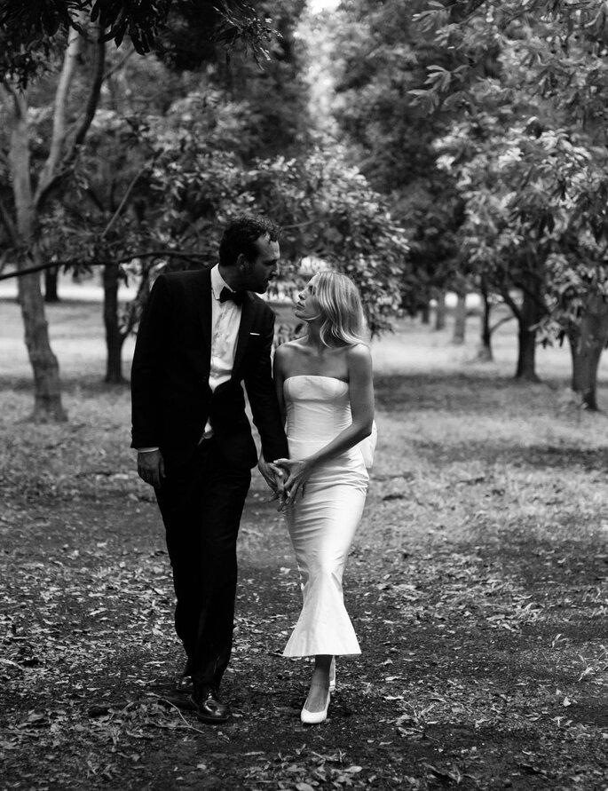 Brautpaar während Brautpaarshooting