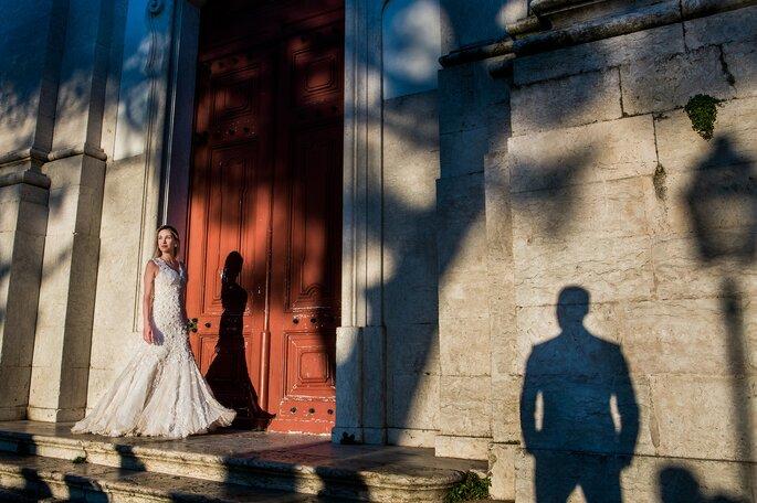 Ensaio dos noivos jogo de sombras
