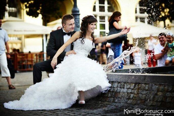 Fotografías profesionales de boda. Foto de Kamil Borkiewicz.