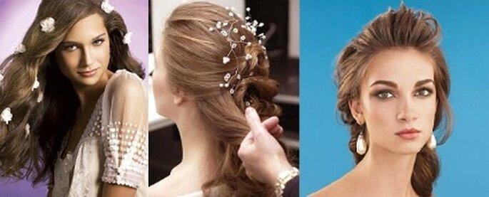 Si tiene un peinado muy laborioso y ademas lleva accesorios para el cabello, luzca joyas muy discretas.