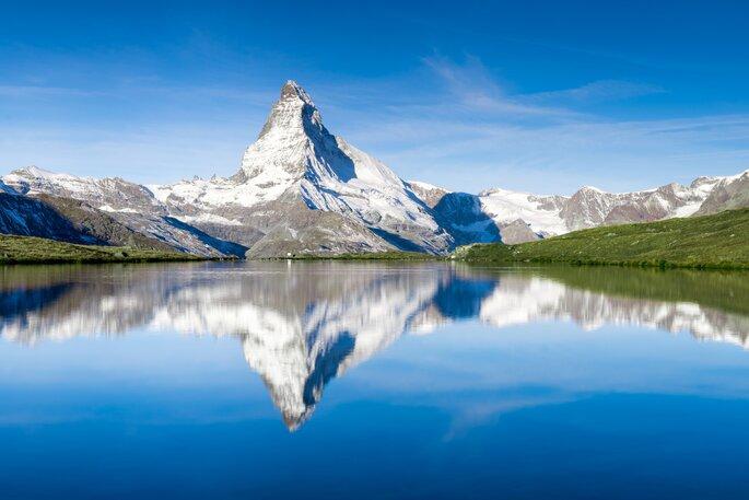 Berg mit See