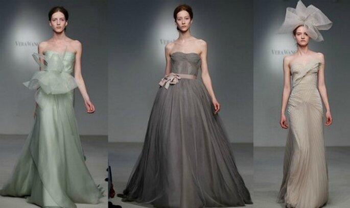 Moderne und originelle Hochzeitskleider in verschiedenen Farbtönen v
