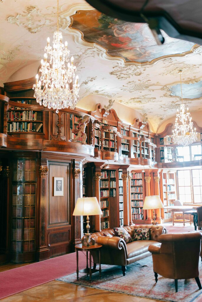 Bibliothek in Schloss