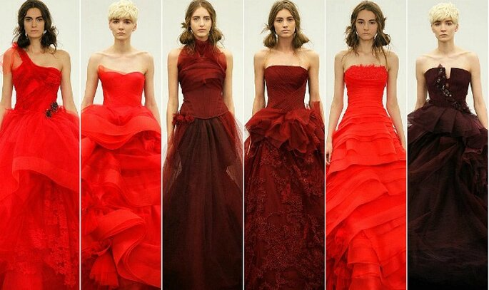 Vera wang bridal collection 2013…il matrimonio si tinge di rosso
