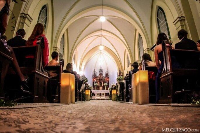 Corredor con velas. Foto: Melqui Zago