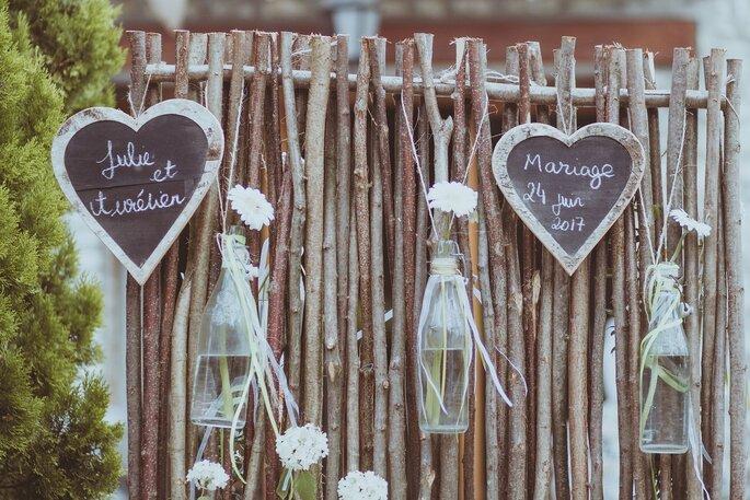 décoration champêtre- mariage champêtre dans l'Eure-et-Loir