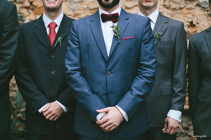 trajes do noivo e padrinhos