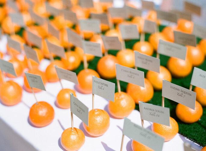 Fruits in your wedding decor - Photo: Lane Dittoe