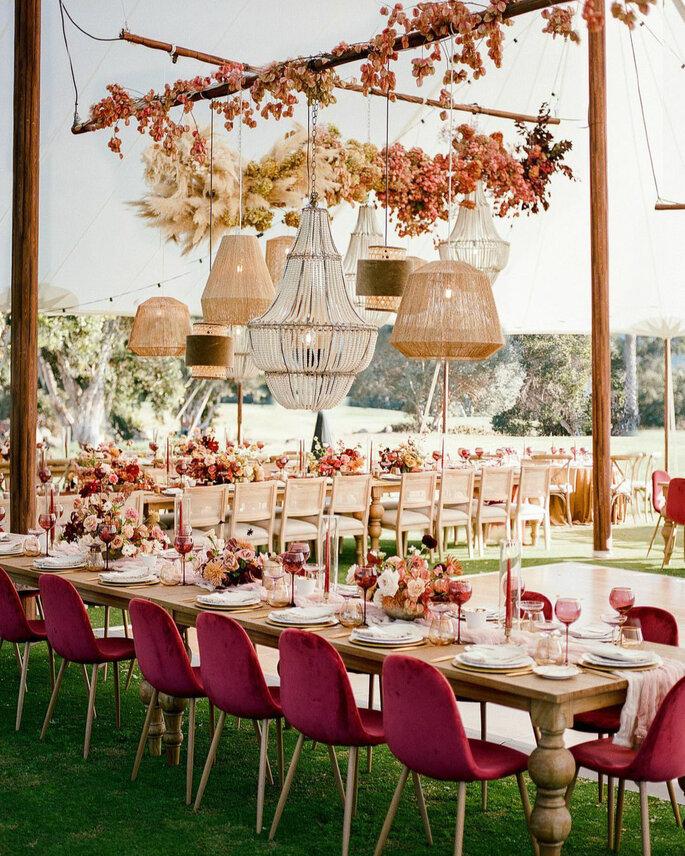 Table repas de mariage