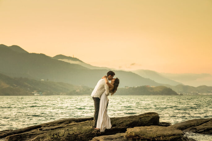 ensaio casamento na praia