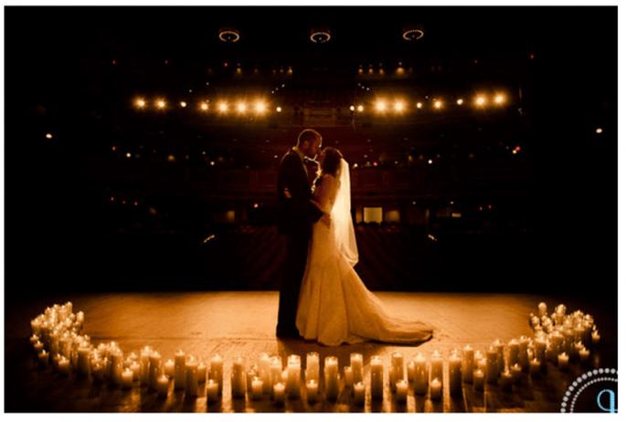 Decoración de boda con velas - Foto Jessica Johnston