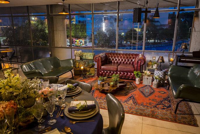 Lounge para casamento urbano