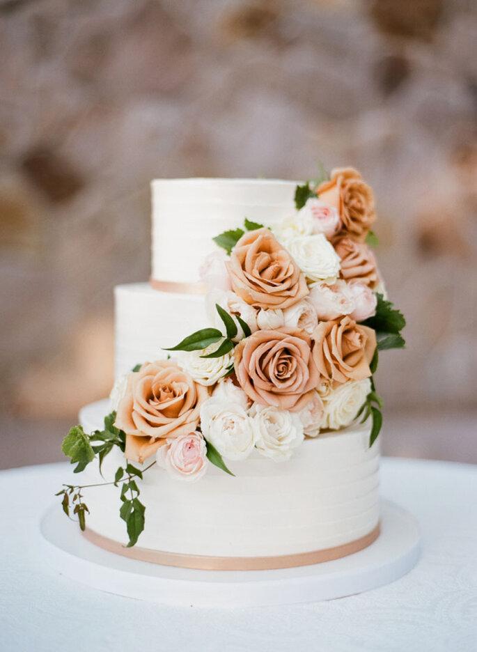 Tortas de matrimonio con flores
