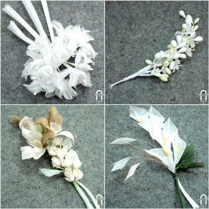 En Charo Agruña encontrarás la flor más adecuada para el tocado de tu boda