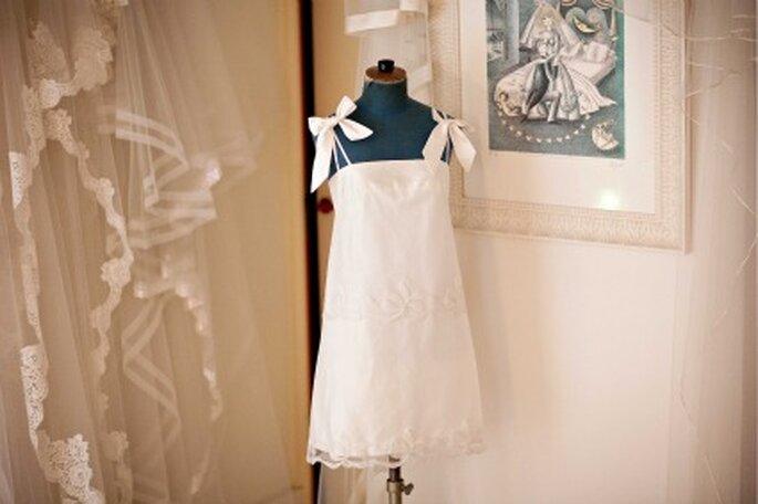 Robe de mariée courte - Olivier Portais