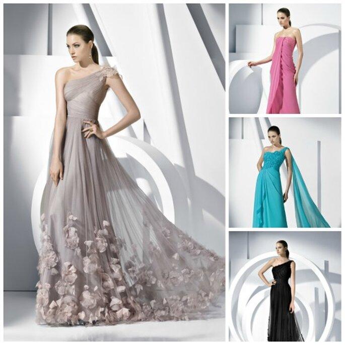 b981f9ee2 guardar Vestidos largos de Pronovias para un lindo look de una boda de noche.  Foto