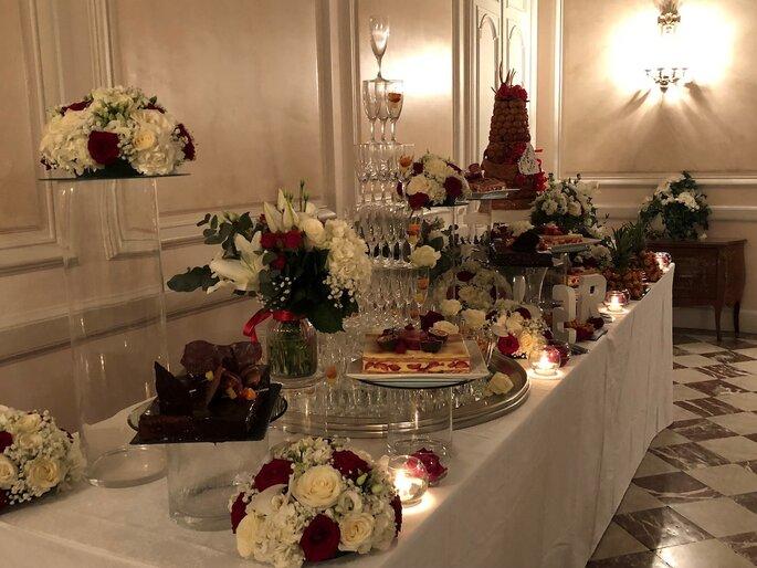 Buffet dressé au Domaine d'Arvigny par Pro'G Traiteur