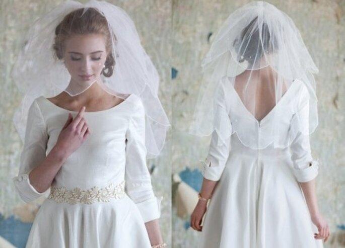 Bezaubernde Brautkleider gibt es auch für Winterhochzeiten – Foto: RUCHE