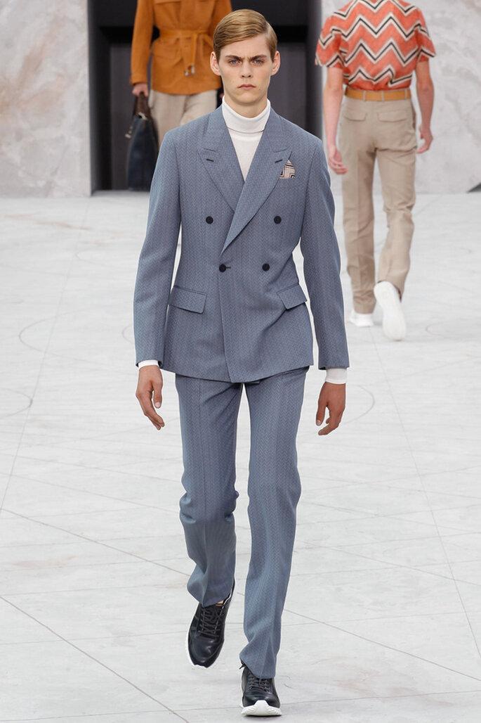 Tendencias masculinas para los novios del 2015. Foto: Louis Vuitton
