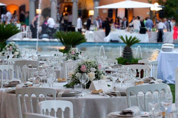 Servizi Cherubini Banqueting & Catering - banchetto nuziale vista piscina