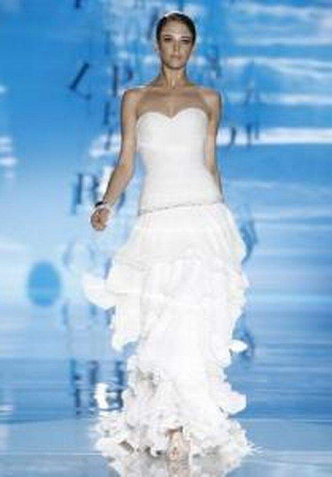 Pepe Botella 2010 - Vestido largo en seda, de corte princesa, muy versátil, escote corazón strapless